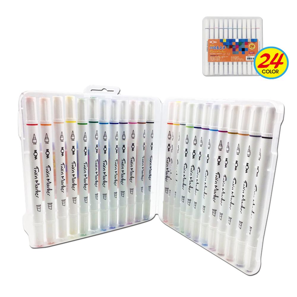 Mona 4467-24雙頭24色酒精性麥克筆組
