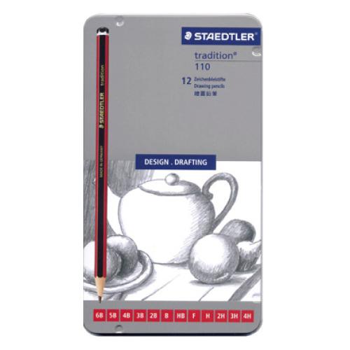 STAEDTLER MS110G12S紅武士經典繪圖鉛筆