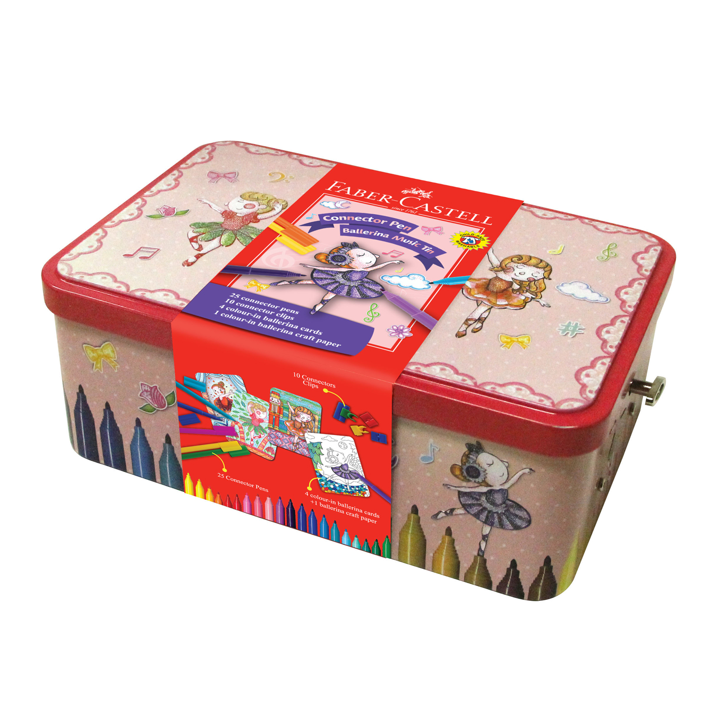 FABER 155095 25色音樂盒造型連接筆
