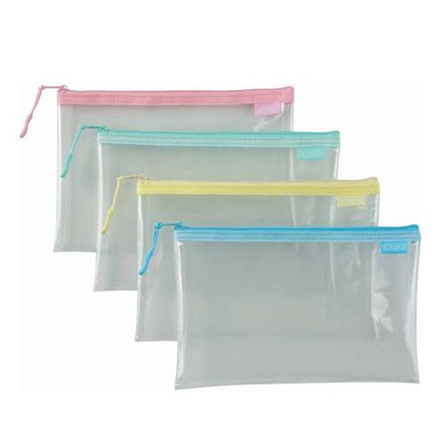 COX 851H B6 環保透明拉鍊袋(隨機色)