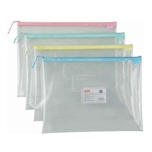 COX 865H B4 環保透明拉鍊袋(附名片袋)(隨機色)