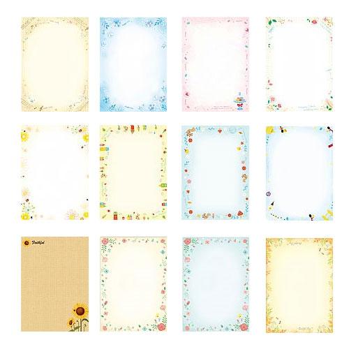 四季 A4彩色影印紙 50張/包 有底色圖案