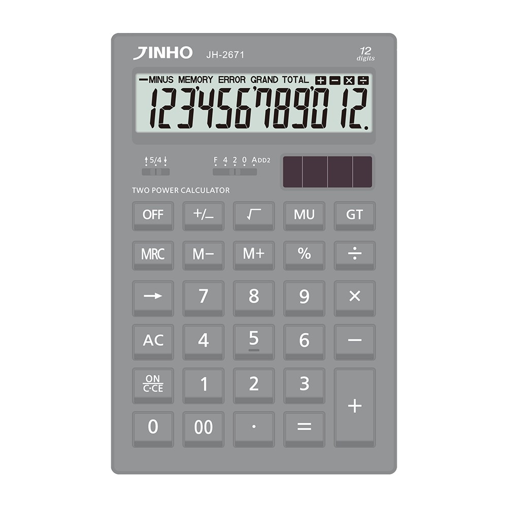 JINHO JH-2671 京禾極致灰12位元計算機
