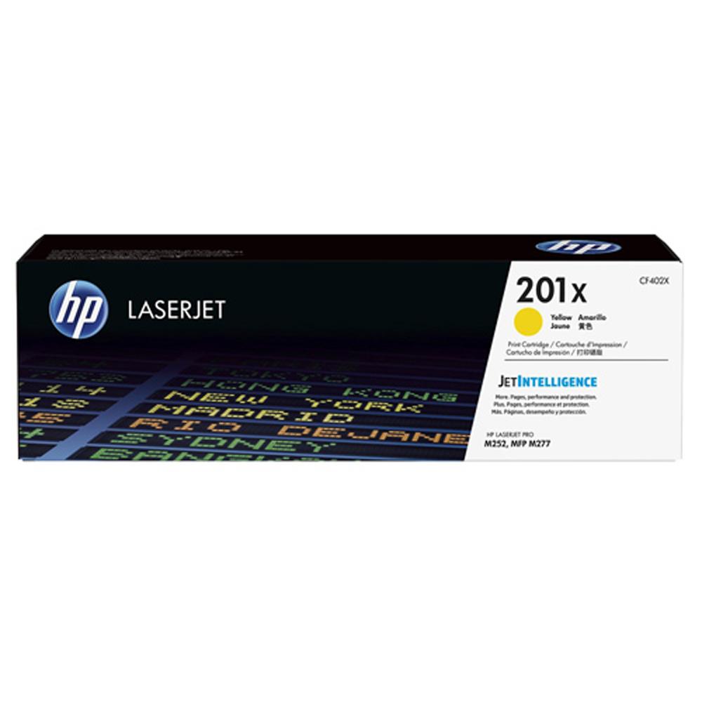 HP CF402X #201X 黃色高容量碳粉匣