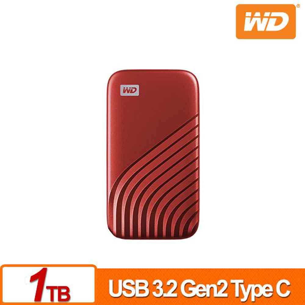 WD My Passport SSD 1TB(紅)外接式硬碟