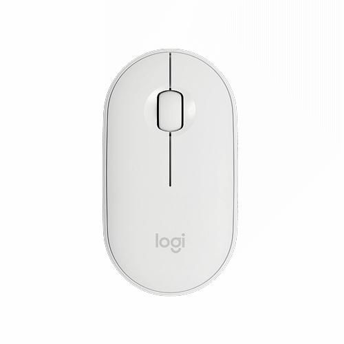 羅技 M350 鵝卵石無線滑鼠-珍珠白