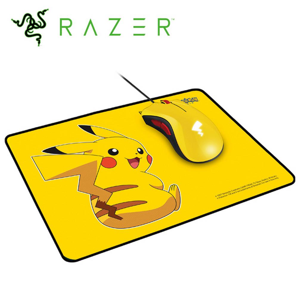 雷蛇Razer 皮卡丘限定款 電競滑鼠+滑鼠墊套裝