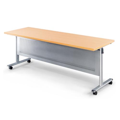 HS-1870WH 銀框架白櫸木掀合式會議桌180×70