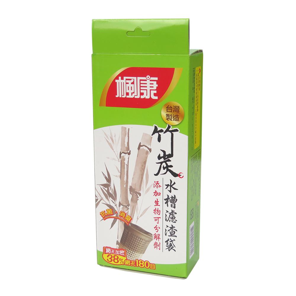 楓康竹炭抗菌消臭水槽濾渣袋 30x23cm x100入