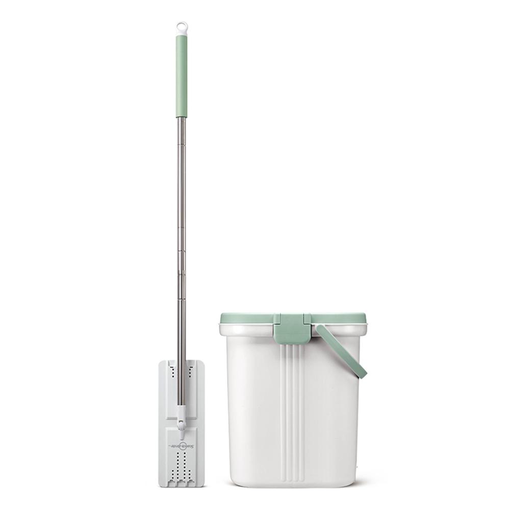3M HFB001免手洗平板拖把刮水桶(內含1桶1桿1布)