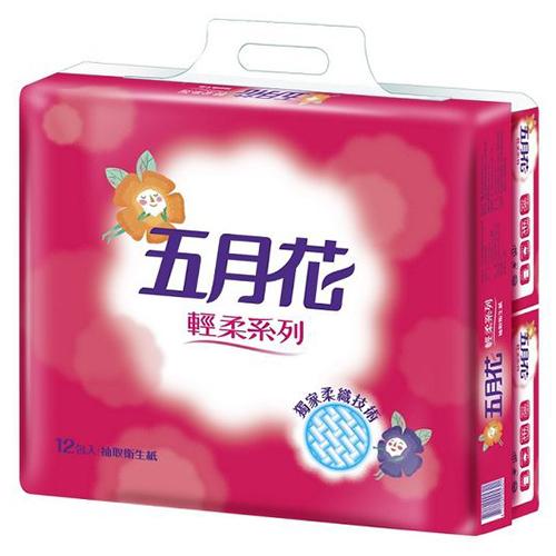 五月花 輕柔抽取衛生紙110抽x12包x6袋/箱