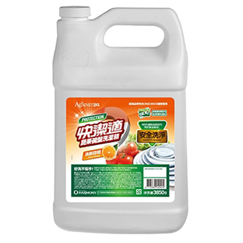 快潔適蔬果碗盤洗潔精-清新甜橙3850gm