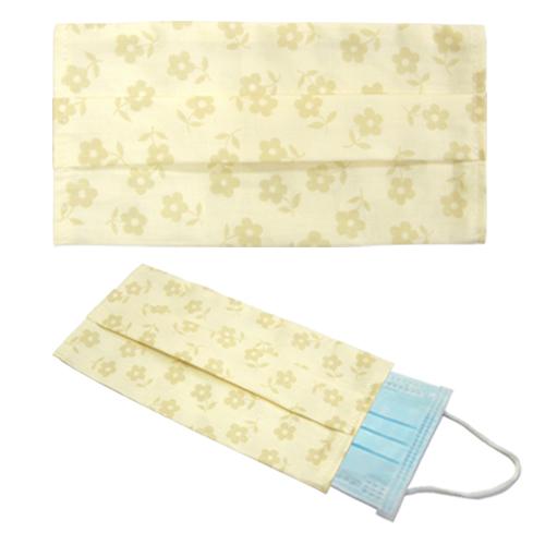 韓風純樸黃花純棉布口罩套